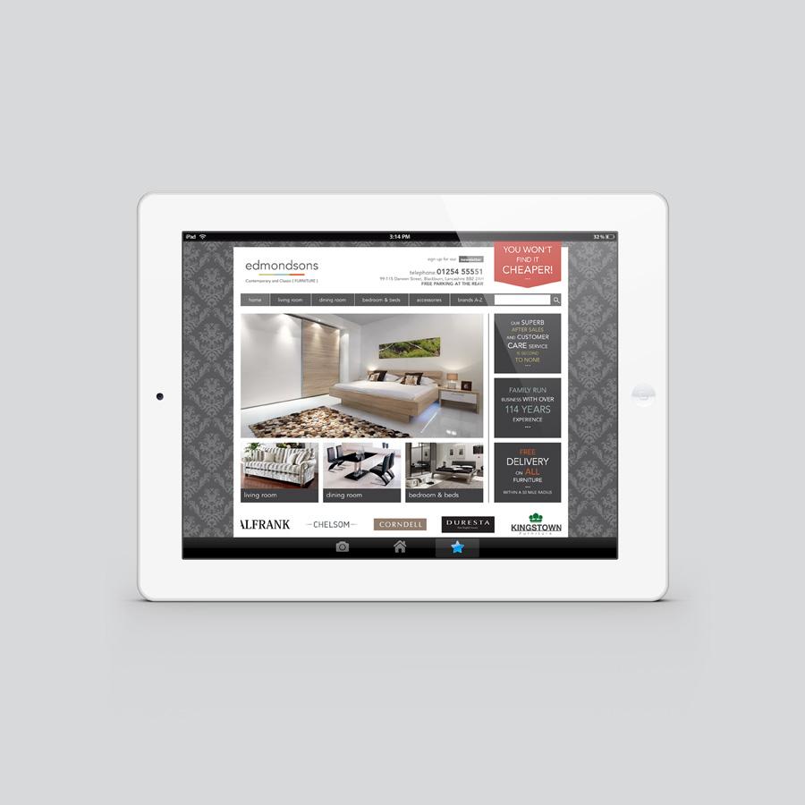 branding identity and design for edmondsons furniture