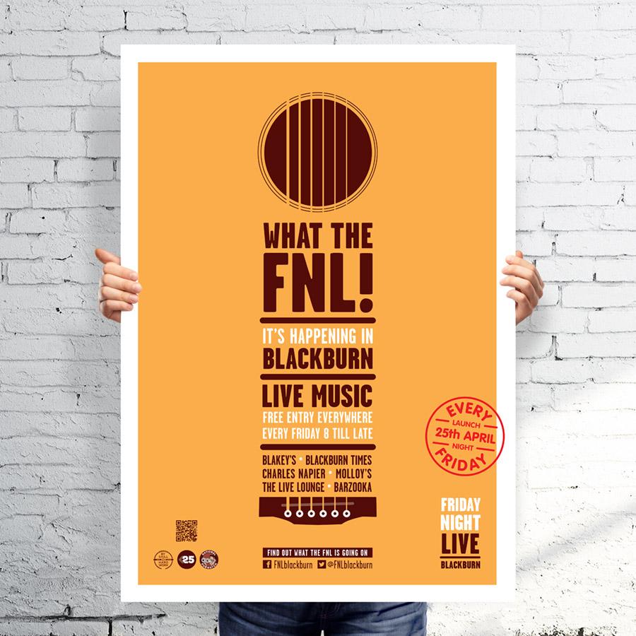 branding identity design for friday night live