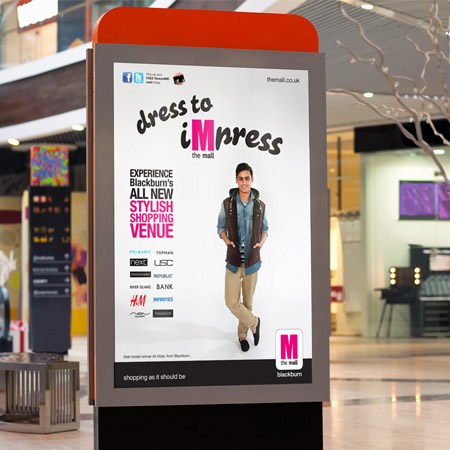 advertising design for the mall shopping centre