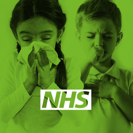 National Health Service Flu-Fighter campaign design image